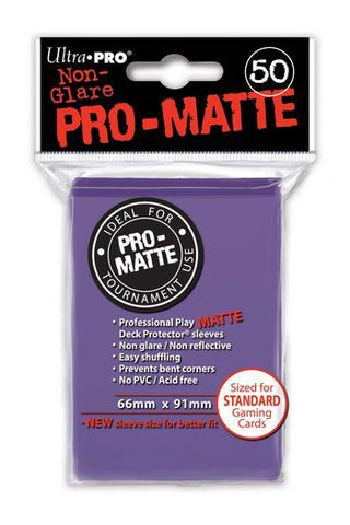 ULTRA PRO PRO-MATTE DECK PROTECTOR SLEEVES - PURPLE