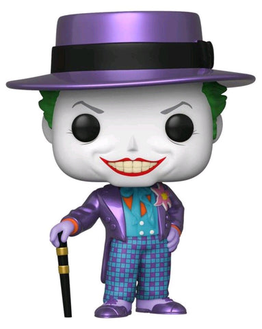 POP! DC: JOKER WITH HAT (METALLIC)