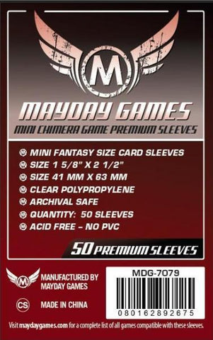 MAYDAY PREMIUM 50 PACK 43 X 65MM CARD SLEEVES