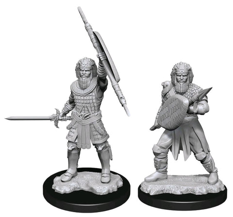 DUNGEONS & DRAGONS NOLZUR'S MARVELOUS UNPAINTED MINI: HUMAN FIGHTER (MALE) #2