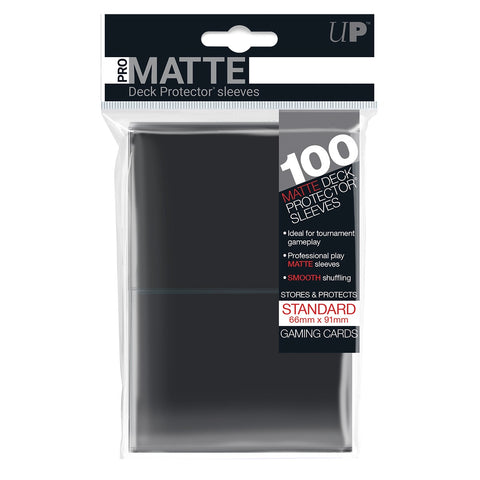 ULTRA PRO PRO-MATTE DECK PROTECTOR SLEEVES 100 PACK - BLACK