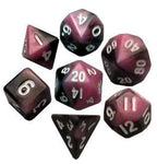 MDG MINI POLYHEDRAL DICE SET - PINK/BLACK