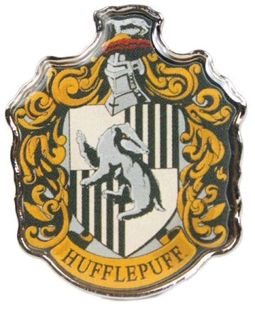 HARRY POTTER HUFFLEPUFF ENAMEL BADGE