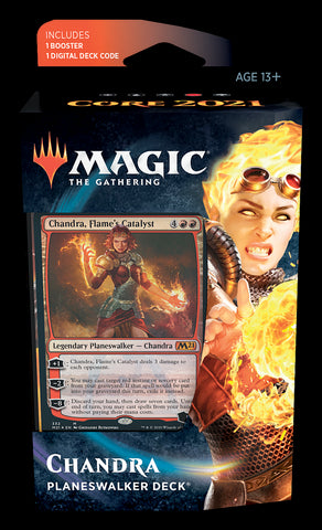MAGIC THE GATHERING CORE 2021 CHANDRA PLANESWALKER DECK