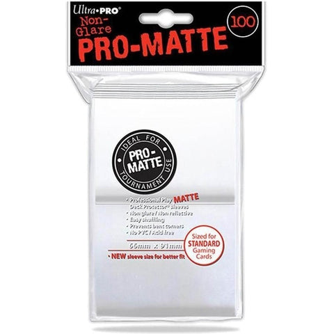 ULTRA PRO PRO-MATTE DECK PROTECTOR SLEEVES 100 PACK - WHITE