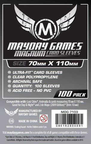 MAYDAY 100 PACK MAGNUM 70 X 110MM CARD SLEEVES