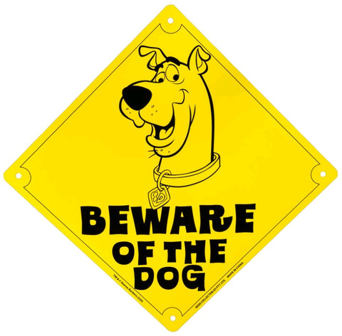 BEWARE OF THE DOG SCOOBY DOO TIN SIGN