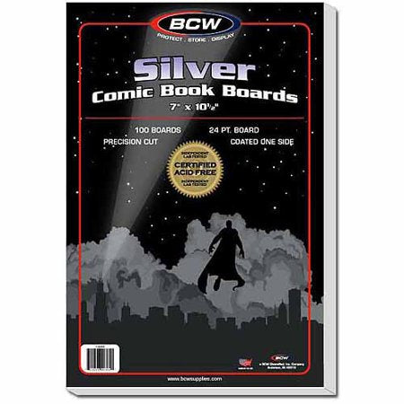 BCW SILVER COMIC BOOK BOARDS