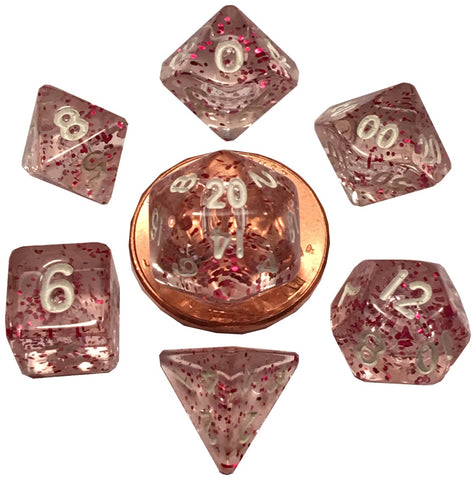 MDG MINI POLYHEDRAL DICE SET - ETHEREAL LIGHT PURPLE