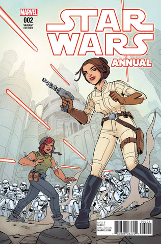 STAR WARS ANNUAL #2 CHARRETIER VARIANT