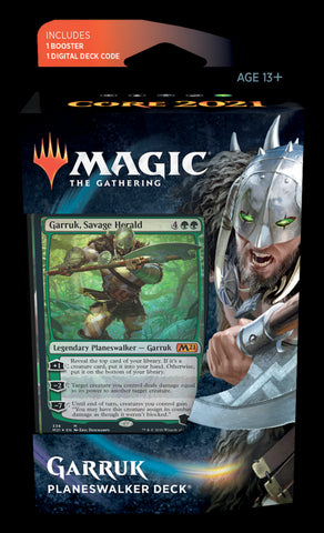 MAGIC THE GATHERING CORE 2021 GARRUK PLANESWALKER DECK