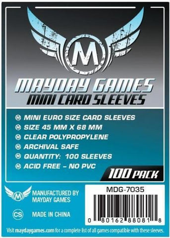 MAYDAY 100 PACK 45 X 68 MM CARD SLEEVES