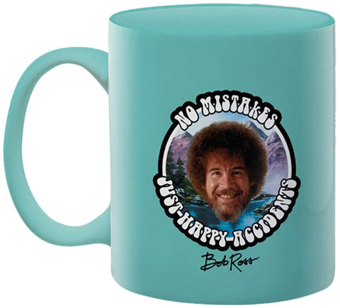 BOB ROSS NO MISTAKES JUST HAPPY ACCIDENTS MUG