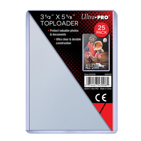 ULTRA PRO 3 1/2 x 5 1/8 INCH TOPLOADER