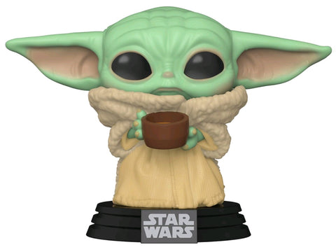 POP! STAR WARS MANDALORIAN: THE CHILD (BABY YODA) WITH CUP