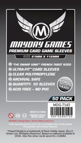 MAYDAY PREMIUM 50 PACK 61 X 112 MM CARD SLEEVES