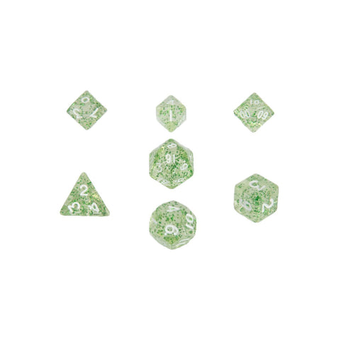 MDG MINI POLYHEDRAL DICE SET - ETHEREAL GREEN