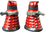DOCTOR WHO DALEK CERAMIC SALT AND PEPPER SHAKER SET