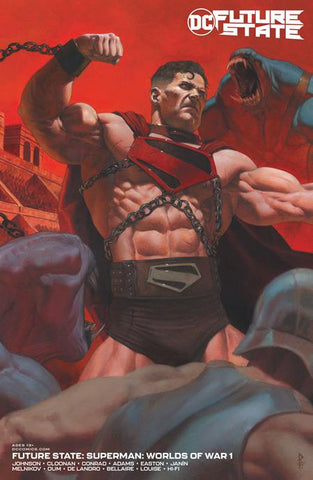 FUTURE STATE SUPERMAN WORLDS OF WAR #1 (OF 2) CVR B RICCARDO FEDERICI CARD STOCK VARIANT