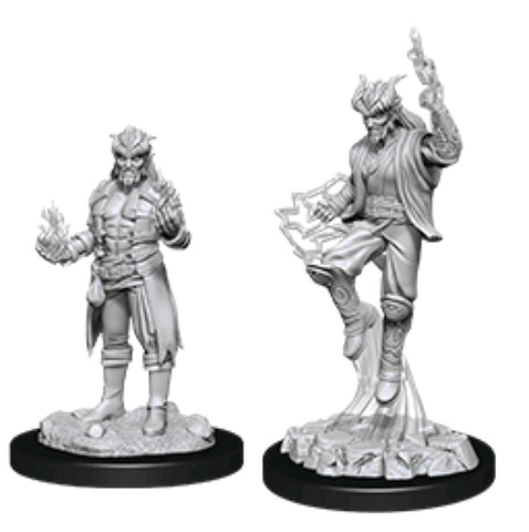 DUNGEONS & DRAGONS NOLZUR'S MARVELOUS UNPAINTED MINI: TIEFLING SORCERER (MALE) #2