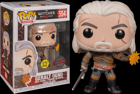 POP! GAMES: THE WITCHER: GERALT (GLOW)