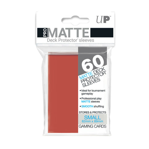 ULTRA PRO PRO-MATTE DECK PROTECTOR SLEEVES - SMALL - RED