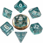 MDG MINI POLYHEDRAL DICE SET - ETHEREAL LIGHT BLUE