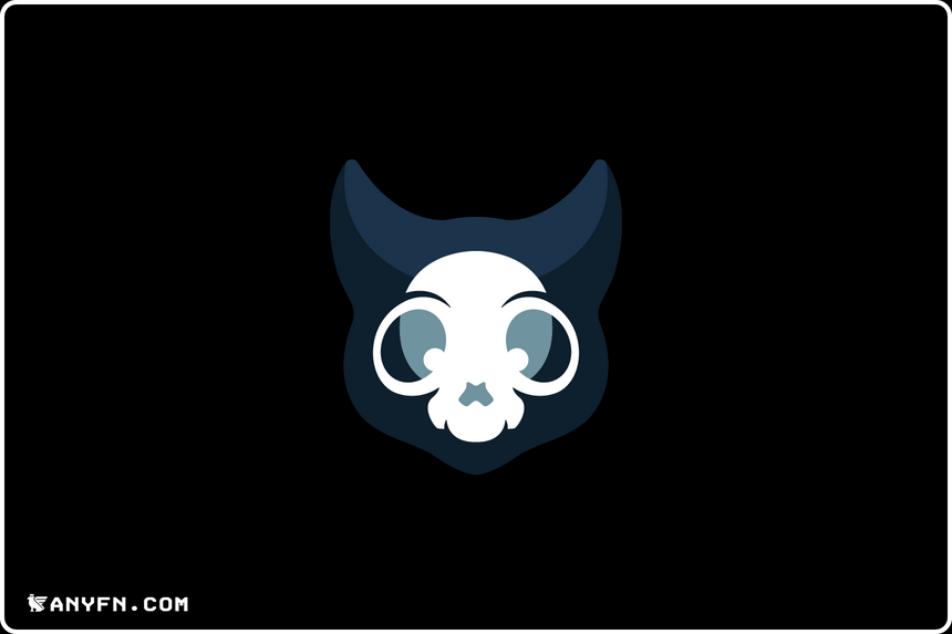 Cat Skull - Premade Logos, Anyfn, Ready-made Logos, Premade Designs, Pre made logos, Premade Graphics, Logo Maker, Logos