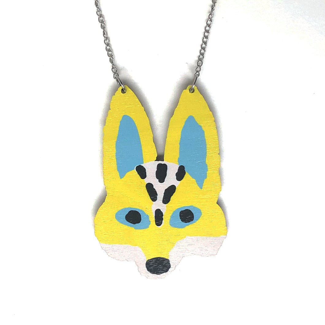 Fox - Birch Plywood Necklace