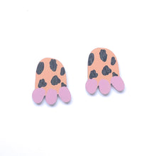 Load image into Gallery viewer, Granny's Choice - Birch Plywood Stud Earrings (multiple colour choices)