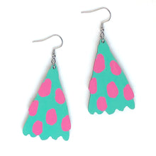 Load image into Gallery viewer, Joy - Birch Plywood Earrings (multiple colour choices)