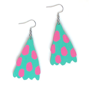 Joy - Birch Plywood Earrings (multiple colour choices)