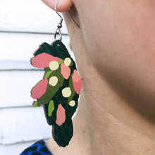Load image into Gallery viewer, Leaves - Birch Plywood Earrings (multiple colour choices)