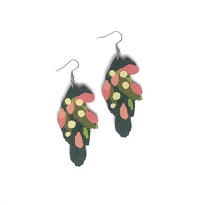 Leaves - Birch Plywood Earrings (multiple colour choices)
