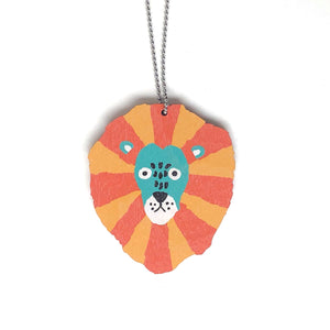 Lion - Birch Plywood Necklace