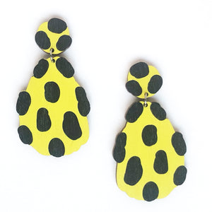 Rigolo -Birch Plywood Earrings (multiple colour choices)