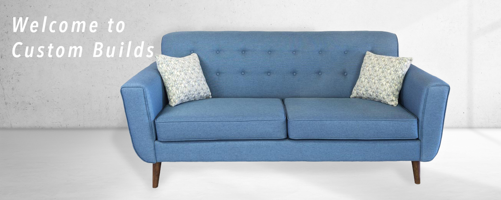 Welcome to custom builds photo of sofa in concrete room