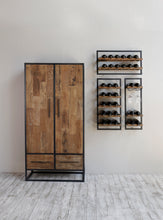 Load image into Gallery viewer, Decant Wine Rack with Glass Holders