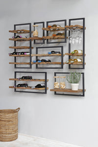 Decant Wine Rack with Glass Holders