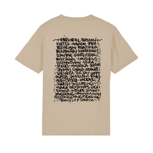 "T-SHIRT ""DANCEHALL FOREVER"" BEIGE"