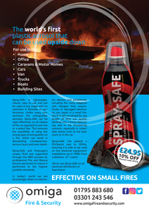 Safe-Spray Fire Extinguisher