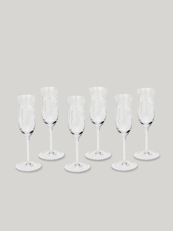 Connaught Bar Champagne Flutes  - Set of Six