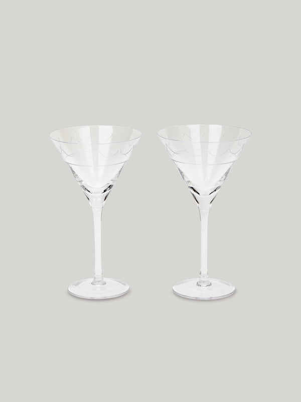 Connaught Bar Iconic Martini Glasses - Set of Two