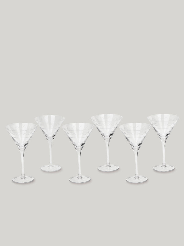 Connaught Bar Iconic Martini Glasses - Set of Six