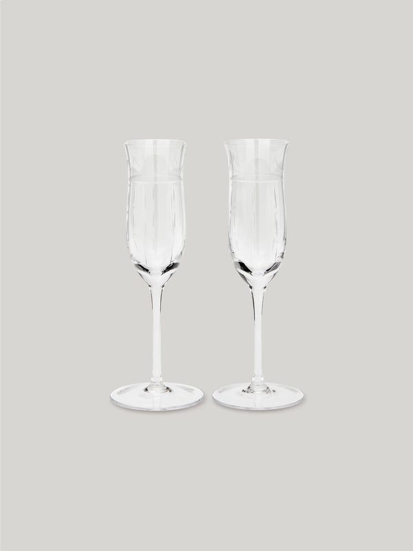 Connaught Bar Champagne Flutes - Set of Two
