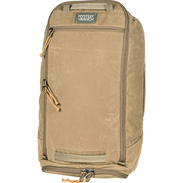 Mystery Ranch Mission Duffel Travel Bag (Wood Waxed) Backpack Straps Stowed