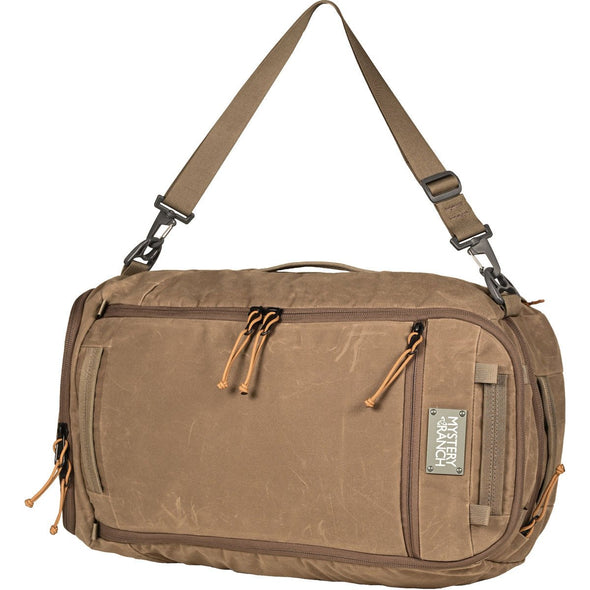 Mystery Ranch Mission Duffel Travel Bag (Wood Waxed) Single Shoulder Carry On