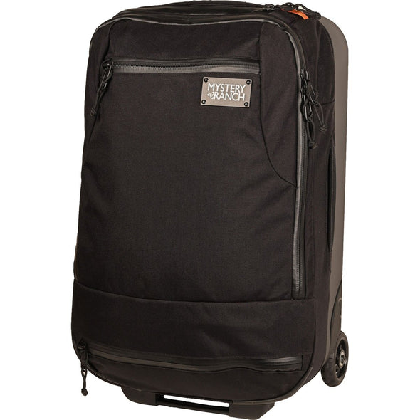 Mystery Ranch Mission Wheelie Suitcase (black) Front View