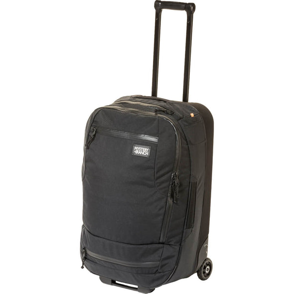 Mystery Ranch Mission Wheelie Suitcase (black) with Pull Handle Extended