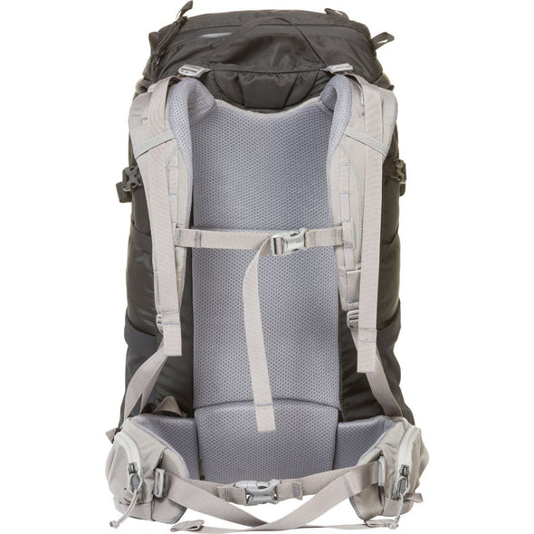 Mystery Ranch Scree 32 Overnight Day Pack (Black) Rear View of Harness